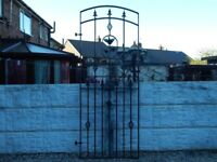 Wrought iron gate / Garden gate / Metal gate / Steel gate / Tall gate / Entry gate / Side gate