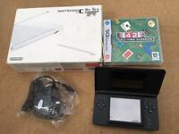 DS lite console, black boxed with 42 classic games - £25