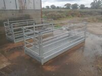 Galvanised sheep foot bath