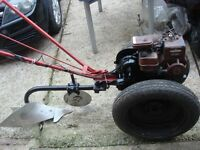 tractor villiers and ploughs petrol engine 3hp full working ready to go or export