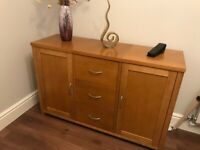 Strong/Sturdy Oak 3 Draw and 2 Door Sideboard in Very Good Condition for sale  Wootton, Northamptonshire