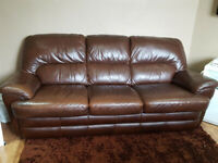 3 siter leather sofa