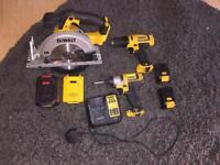 Dewalt bundle of power tools circular saw drill impact driver