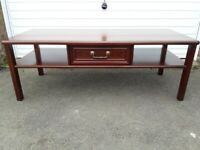 G Plan Mahogany Coffee Table With Drawer