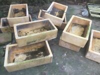 Clay troughs