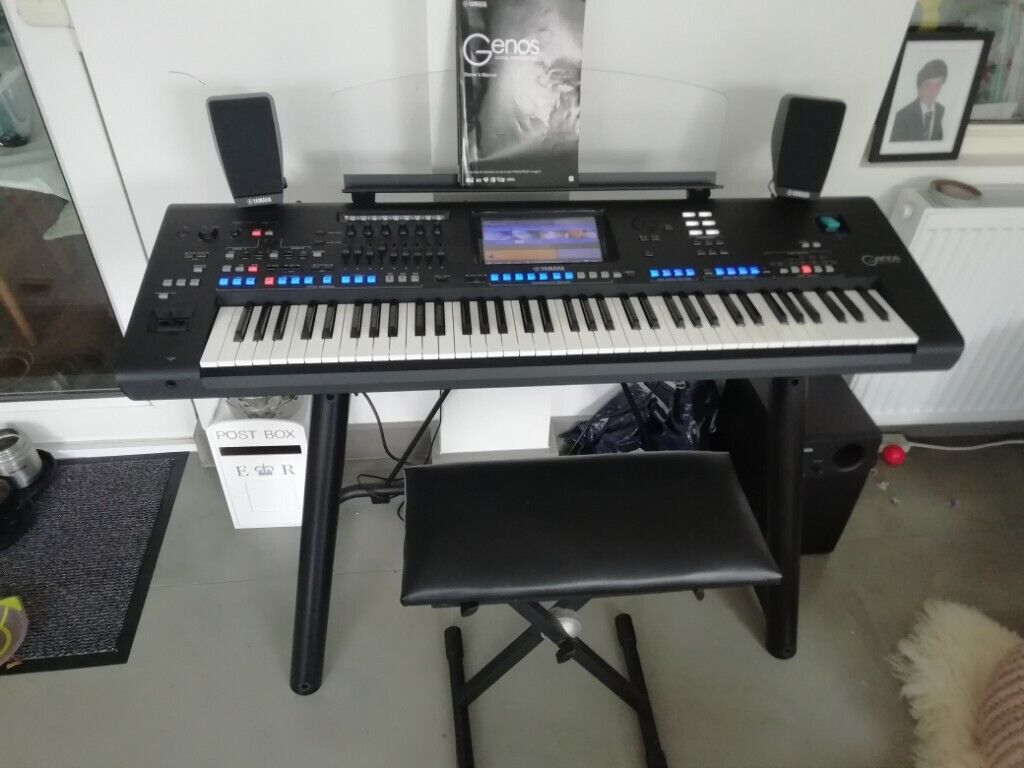 Yamaha Genos Keyboard -with speaker system, Genos stand and stool  22month  Yamaha warranty | in Hazlemere, Buckinghamshire | Gumtree