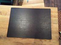 4 wooden table mats