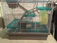 Hamster Cage with Complete Set Up.