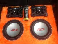Car Bass box Subwoofer BASS FACE x4 Type R12, x2 Amplifiers