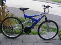 "MANS 26"" WHEEL BIKE 18"" ALUMINIUM FRAME IN GREAT WORKING CONDITION"