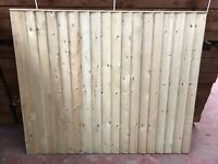 Superior quality feather edge fence panel pressure treated green (imported boards)