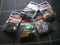 10 X SEALED PACKS OF DRAPER MULTI-COLOURED KEY TAGS. 48 TAGS IN EACH PACK.