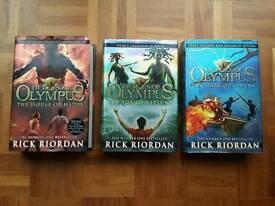 Heroes of Olympus (Rick Riordan) hardback books, like new (unread)