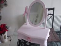 pink shabby chic dressing table mirror