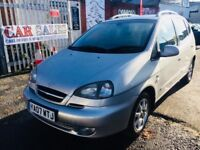 CHEVROLET TACUMA AUTOMATIC PETROL 5 DOORS 2.0CDX 2007 12 MONTH MOT DRIVES NICE