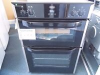 EX-DISPLAY BLACK BELLING 60 CM COOKER W/DOUBLE OVEN & DOUBLE GRILL REF: 31208
