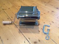 Imperia Pasta Machine - This traditional pasta machine is chrome plated with adjustable rollers