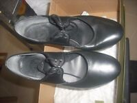 women's/ladies all leather tap dancing shoes UK size 5