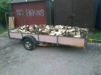 Logs for sale by 12x5 trailer load
