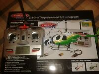 """HELICOPTER 4 CRC HANNEL , Twister Scale Mini. EASY TO FLY MODEL 7"""" long indoor fl!yer!!"""