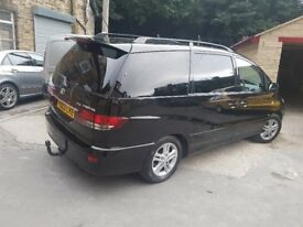 Black Toyota Previa up for sale. Excellent family car.