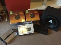 Alpine car sound system with JL Audio speakers