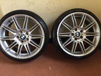 4 genuine BMW mv4 alloys and tyres