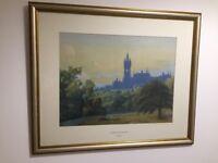 Glasgow university frame art print / picture