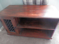 3 piece solid wood table, tv unit and matching mirror