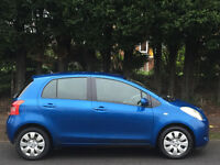 TOYOTA YARIS 1.3 VVT-i T3 2006 06 REG BLUE 5 DOORS 87000 MILES FSH ONE FAMILY OWNED