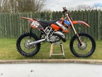 Ktm 125 motocross bike