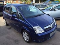 2008/08 VAUXHALL MERIVA 1.6i 16V BREEZE 5 DOOR,BLUE, GOOD CONDITION,LOOKS AND DRIVES WELL
