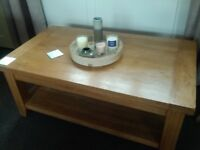 SOLID OAK COFFEE TABLE - Chunky Solid Design!!!