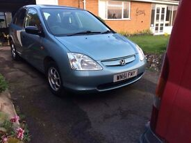 Honda civic good condition, low milage