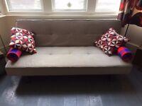 John Lewis light grey sofabed