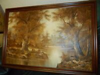 Oil paint Landscape signed C. Inness, framed