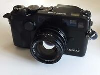 Contax G2 Super Rare Beautiful Black Camera Kit with 45mm F2 Lens - Mint-
