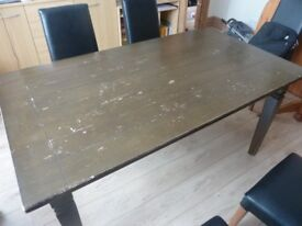 Dark Solid Wooden Table