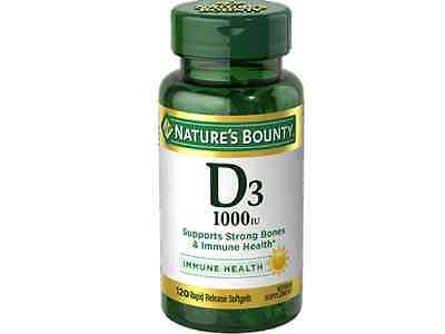 Natures Bounty Vitamin D3 1000 Iu Immune Health  120 Softgels