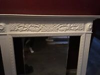 Lovely white Victorian style wooden fire surround £130