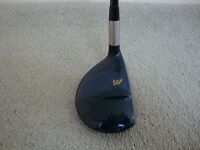 Mizuno 7 wood, 21 degree loft, stiff-regular graphite shaft