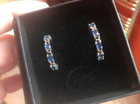 Genuine sapphire earrings