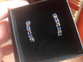 Genuine sapphire earrings
