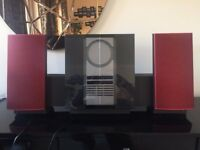 B&O BeoSound 3000 with limited edition red speakers & remote
