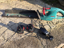 Bosch Battery Trimmer with 2 batteries and charger