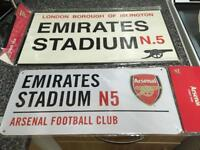 Arsenal street signs