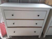 IKEA HEMNES Chest of 3 drawers white wood