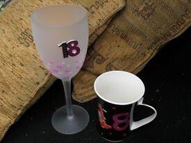 18th Birthday Glass and Mug