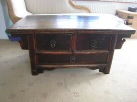'Country & Eastern' Antique (Chinese) Side Table / TV stand