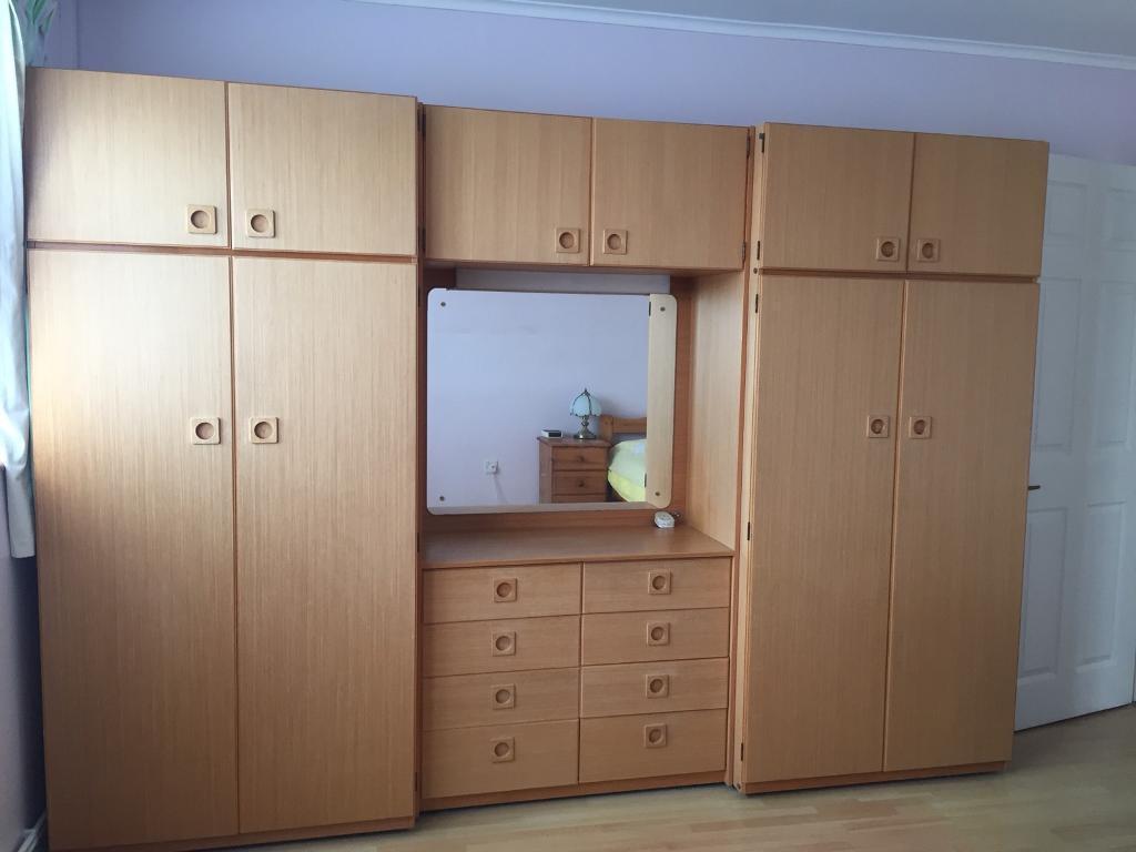 Retro Wardrobe and Dresser Unit